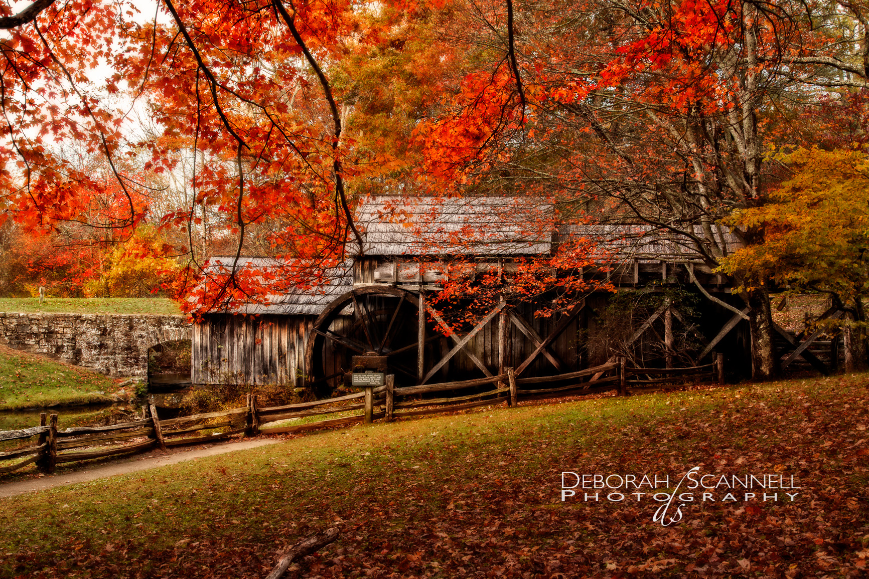 Enchanted Autumn Morning at the Mill